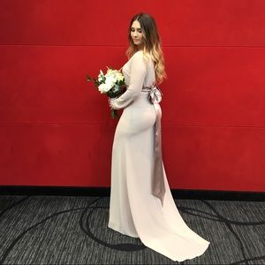 Long dress with tail